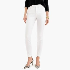 J.Crew White Highrise Skinny Jeans